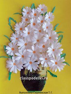 Flowers from paper podelky svoymy hands 26 thousand.Zobrazhennyah image… Flowers from paper podelky svoymy hands 26 thousand. Paper Crafts For Kids, Easter Crafts, Diy And Crafts, Paper Crafting, Flowers For Mom, Diy Flowers, Origami Flowers, Paper Flowers Craft, Paper Roses
