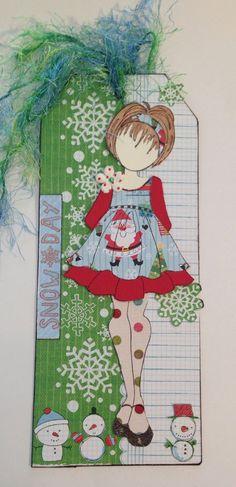 Prima Doll Stamp Snow Stamp: