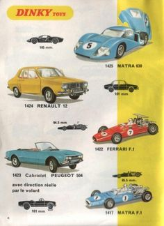 catalogue dinky toys 1970 incl. Renault 12 and Peugeot 504 convertible