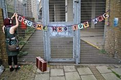 Become Who You Are - Stitch some bunting with a message which will make people think.