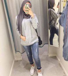 trendy fashion hijab style 2018 fashion style hijab pantai 16 ideas for 2019 style Hijab Casual, Ootd Hijab, Hijab Chic, Street Hijab Fashion, Muslim Fashion, Cool Street Fashion, Trendy Fashion, Fashion Outfits, Fashion Fashion