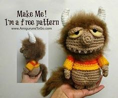 Amigurumi Monster from Where the Wild Things Are - FREE Crochet Pattern / Tutorial