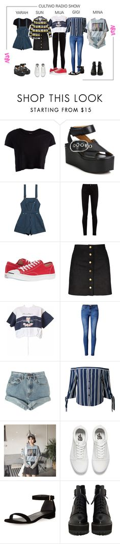 """""""ARIA (아리아) 두시탈출 컬투쇼; Cultwo Radio Show"""" by ariaofficial ❤ liked on Polyvore featuring Pieces, Alexander Wang, Alice McCall, Gucci, Converse, Yves Saint Laurent, bleu, WithChic, Levi's and Vans"""
