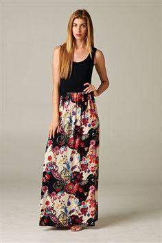Paisley Maxi Dress from Barcelona-styles.com
