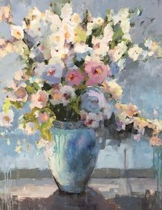 Anniversary...Glory from the Garden by Janette Jones Oil ~ 30 x 24