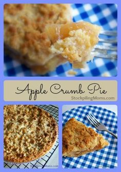 Apple Crumb Pie recipe is known as the American dessert with a twist!  Perfect to take to a grill out or BBQ.
