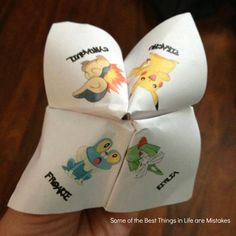 Some of the Best Things in Life are Mistakes: Free Printable Pokemon Valentine Fortune Teller