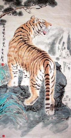 CHINESE PAINTINGS OF TIGERS | Tiger - Chinese Painting