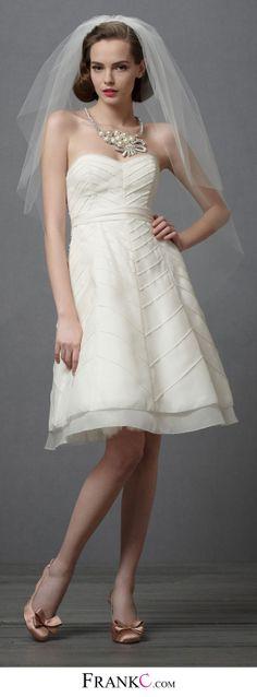 sweetheart wedding dress,short casual wedding dress