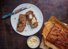 Jasmine Hemsley's recipe for buckwheat banana bread with salty butter Baked Banana, Banana Bread, Jasmine Hemsley, Buckwheat Recipes, Good Food, Yummy Food, Tasty, Banana Slice, Butter Recipe