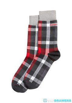 Bjorn Borg Check On Check Ankle Socks Red 136809-129101 [136809-129101] - $16.00 : Topdrawers Underwear, Underwear for Men