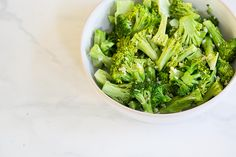 Microwaved broccoli tossed with a little bit of lemon, garlic, salt, and butter, you would never think that this healthy and tasty side dish was made in the nuker.