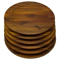Free Shipping. Buy 6 Pack Round 13 Inch Wooden Charger Plates B. Smith Solid Acacia Dinner Servers Set at Walmart.com