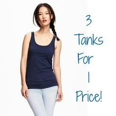 Old Navy Essential Ribbed Tank Blue Bundle BUNDLE OF THREE BLUE RIBBED TANKS!!! All size Small! Very stretchy - could fit Medium! They've all been preloved but are still in great shape! 100% Cotton. Fitted design. Great for layering, lounging & sleeping! I own these in every color! Colors in this bundle are light sky blue, dark navy blue, and a medium bright cobalt blue! If you love blue, this is your summer tank bundle! Selling all 3 together but willing to separate! Ask! Old Navy Tops…