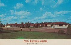 Paul Bunyan Motel - Brainerd, Minnesota Postcard