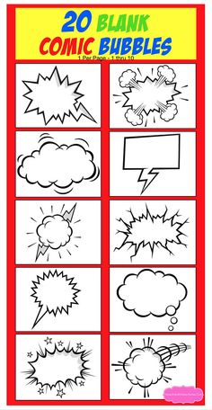 Learn To Draw Comics - Drawing On Demand Superhero Party Supplies, Superhero Classroom Theme, Superhero Superhero, Superhero Art Projects, Superhero Party Decorations, Comic Bubble, Blank Comic Book, Comic Books, Create Your Own Superhero