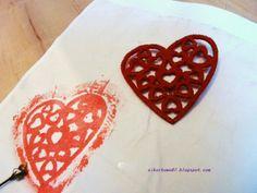 Pieczątka DIY - filcowe serce