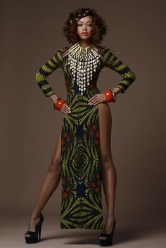 Gorgeous Tribal Noveau Riche - Africa Fashion Week London