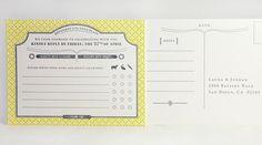 rsvp card /flourish letterpress