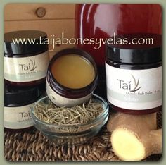 Sobito... Muscle Rub Balm with organic herbs, oils and butters...  www.taijabonesyvelas.com