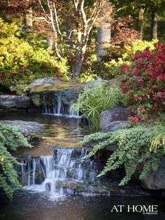 The Best Stone Waterfalls Backyard Ideas – Pool Landscape Ideas Beautiful Waterfalls, Beautiful Landscapes, Beautiful Gardens, Backyard Water Feature, Ponds Backyard, Backyard Waterfalls, Backyard Stream, Garden Stream, Garden Ponds