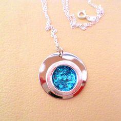 blue circle pendant