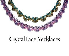 Crystal Lace Necklaces Pattern by Deborah Roberti at Bead-Patterns.com