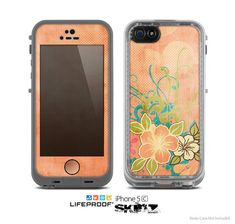 The Vintage Coral Floral Skin for the Apple iPhone by TheSkinDudes