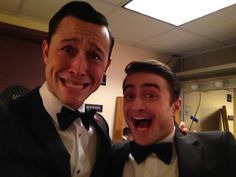 Joseph Gordon Levitt and Daniel Radcliffe at the 2013 Oscars.