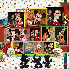 The Gang's All Here - page 2 - MouseScrappers - Disney Scrapbooking Gallery