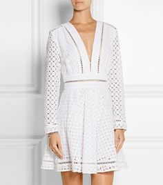 Zimmermann Ryker Broderie Anglaise Cotton Dress