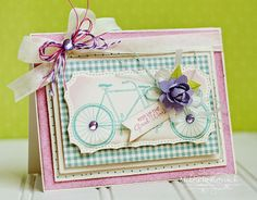 Thoughts of a Cardmaking Scrapbooker!: JustRite's May Release-Bicycle Built for Two!