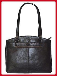 3558228c8fa4 Patricia Nash Poppy Satchel Bag Handbag Purse In Black Italian Leather - Hobo  bags (