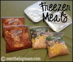 Freezer meals - have to get ready for the busy days of fall! Finally pork free meals!