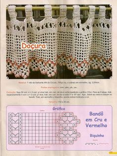 CROCHE COM RECEITAS: cortinas