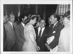 14 de marzo de 1947  Eva Duarte de Perón recibía a trabajadores del frigorifico Anglo.
