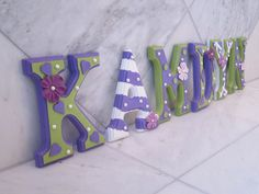 Hanging Wall Letters - CUSTOM for Nursery or Child's Room. $8.00, via Etsy.