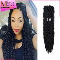 havana mambo twist crochet hair 18inch Kanekalon crochet braids hair synthetic havanna mambo twist braiding hair extension