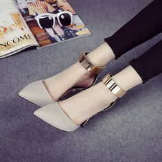 2016 venda quente mulheres bombas pu apontou toe moda mulheres sapatos de verão inferno senhoras bombas 2 cores alishoppbrasil