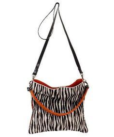 3456a700bd65 Owen Barry Orange   Zebra Cowhide Iggy 3 in 1 Crossbody   Clutch   Should  Bag