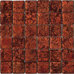 Halcon - mozaiki dekoracyjne CRISTAL Rojo (30x30 plaster)
