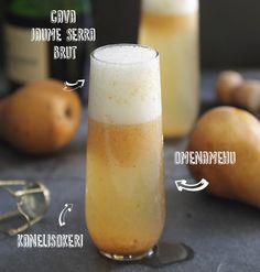 Helppo syysjuoma Cava Jaume Serra Brutista, omenamehusta ja kanelisokerista.