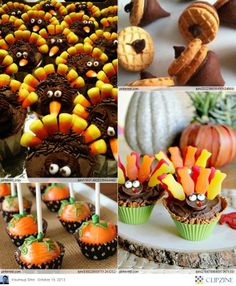 Thanksgiving dessert Ideas from clipzene.me  #thanksgiving #desserts #cupcakes | For more like this make sure to check out my new 2014 Autumn Eats and Treats board. Thanks.