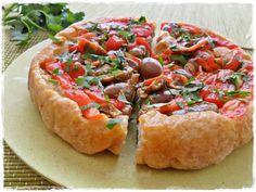 focaccia rovesciata peperoni olive piccanti