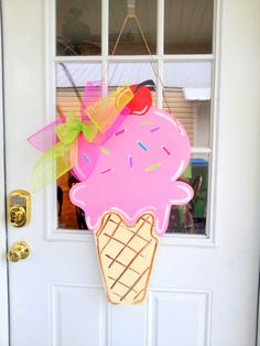Summer Ice Cream Cone - $25    Door Decor & Gifts by Southern by Design - Shop at www.facebook.com/Southern by Design or www.SouthernbyDesignCo.etsy.com.
