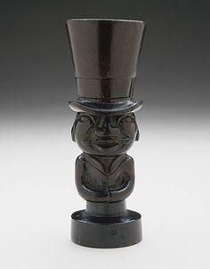 Japan  Seal Carved as Circus Impresario, 19th century  Netsuke, Wood