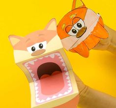 Printable Fox Puppets - Easy Peasy and Fun Printable Animals, Printable Crafts, Printables, Free Printable, Fun Crafts, Crafts For Kids, Puppets For Kids, Animal Crafts, Forest Animals