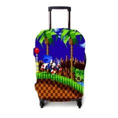 Sonic The Hedgehog Luggage Cover – Etsyenvy Luggage Cover, Sonic The Hedgehog, Suitcase, Make It Yourself, Briefcase