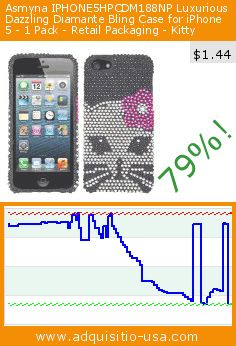 Asmyna IPHONE5HPCDM188NP Luxurious Dazzling Diamante Bling Case for iPhone 5 - 1 Pack - Retail Packaging - Kitty (Wireless Phone Accessory). Drop 79%! Current price $1.44, the previous price was $6.93. https://www.adquisitio-usa.com/asmyna/iphone5hpcdm188np