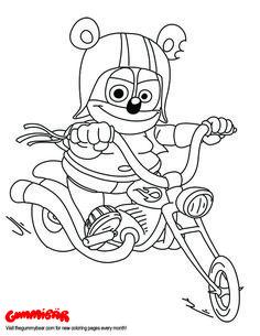 download a free april coloring page httpwwwthegummybear gummy bearsfree